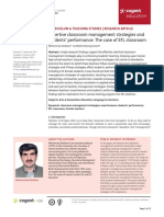 Assertive Classroom Management Strategies and Students Performance the Case of EFL Classroom