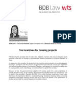 423. Tax Incentives for Housing Projects DCT 1.30.14