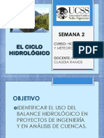 Ciclo Hidrológico y Balance Hidrologico