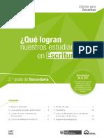 Informe Para El Docente Sec. Escritura ECE 2015