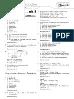 Química - Caderno de Resoluções - Apostila Volume 4 - Pré-Universitário - quim1 aula18