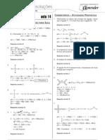 Química - Caderno de Resoluções - Apostila Volume 3 - Pré-Universitário - quim4 aula14