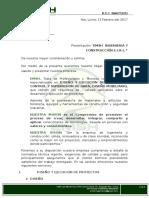 Carta de Presentación Empresarial Emsh Ingenieria y Construccion e.i.r.l.
