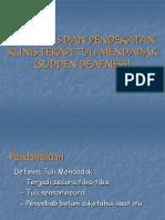 Diagnosis & Terapi Sudden Deafness
