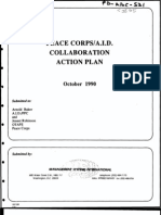 Peace Corps AID Collaboration Plan October 1990