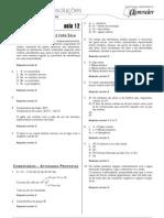 Química - Caderno de Resoluções - Apostila Volume 3 - Pré-Universitário - quim3 aula12