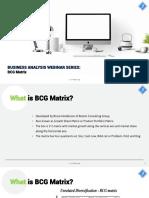 Business Analysis BCG Matrix