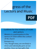 Congress of the Lectors and Music