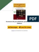 PSEB Secuencia Del Procedimiento Penal Spanish Edition by Erasmo Palemn Alamilla B06X6K6J6Y