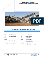SanyyoGroup - Stone Crusher Plant 200 Tph