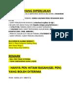 Dokumen Yang Diperlukan