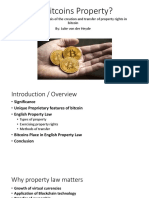 [SLIDE] Are Bitcoins Property
