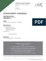 Firebird Stravinsky Pajaro de Fuego