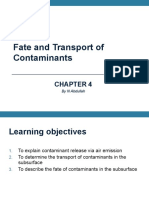 Lecture 4 Fate Contaminant