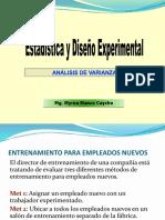Análisis de Varianza 2014-II
