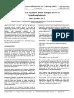 Photosynthetic Pigments under Nitrogen Stress in Spirulina Platensis