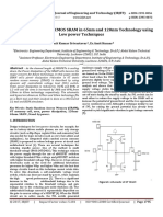 Characterization of 6T CMOS SRAM in 65nm and 120nm Technology using Low Power Techniques-