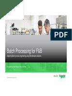 Batch Process Implementation Using WW Inbatch