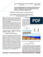 Design of Experiments and Optimization of Grouted Connections of Wind Turbine Monopile of with Shear Key and Without Shear Key Foundations in Offshore Applications
