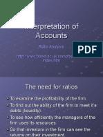 Interpretation of Accounts Ratio Analysis