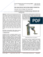 Finite Element Based Analysis of Rotating Robot Pedestal