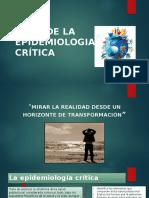 Usos de La Epidemiologia Crítica