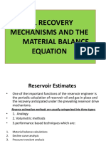 (1)Introduction to Material Balance Equation-Reserve Estimates