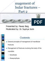 Management of Mandibular Fractures - Part 2