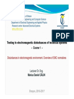 TPE-C1 - Disturbances in Elmg Environment. Overview of EMC Regulations