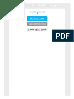 Exemple Demande De Stage Pdf Technologie Général Science