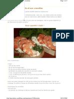 Crostinis à La Ricotta Et Aux Crevettes