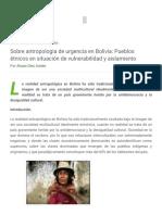 Antropología de Urgencia en Bolivia Pueblos Étnicos en Situación de Vulnerabilidad y Aislamiento - Ecoportal.net
