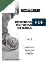 9. Economic Reforms in India