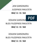 IZDAJEM GARSONJERU.docx