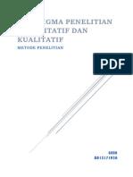 Paradigma Penelitian Kuantitatif dan  Kualitatif