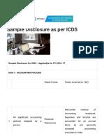 Sample Disclosure as Per ICDS