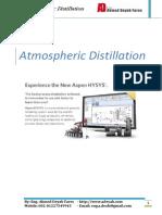 ATM CDU Distillation in Aspen HYSYS V10