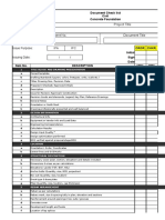 Civil - Concrete Foundation Drawing Checklist