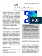 Fracture Mechanics Study Compact Tension Specimen
