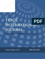 TESOL International Journal Volume 9 Issue 1 2014