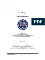 Fyp Project Proposal Template 2016