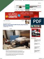 Melihat Lokasi Duel Pemilik Rumah Yang Tewaskan Pencuri Di Cipinang