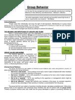 (3) Human Behavior Management (Informal and Formal Groups)