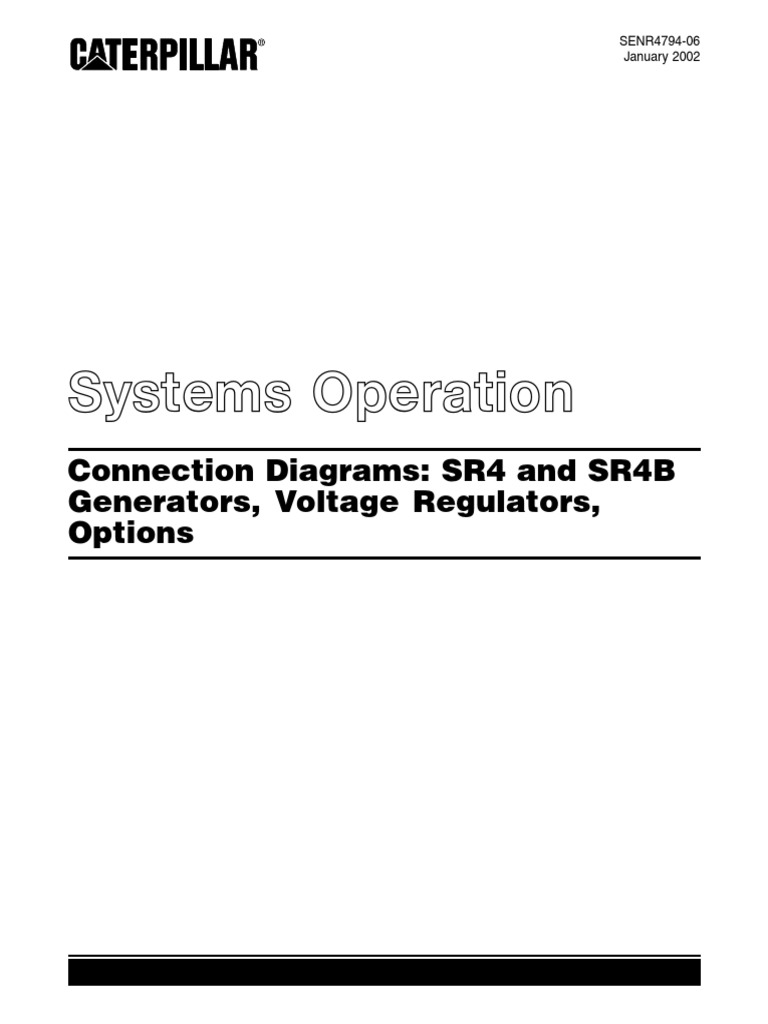 caterpillar connection diagrams sr4 and sr4b | transformer | electric  generator