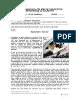 Evaluación diagnóstica COMUNICACIÓN - 3° GRADO - FINAL