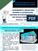 Requisitos para Aperturar una Farmacia o Botica