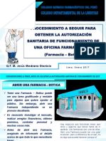 Requisitos para Aperturar una Farmacia o Botica