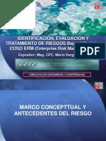 Diapositiva Full Day Evaluacion y Tratamiento de Riesgos Bajo El Modelo Coso Erm - Mario Vergara Silva 19 de Agosto 2017