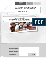 Evaluación diagnóstica COMUNICACIÓN - 4° GRADO final