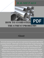 HOW TO AVOID STEEL HEAT TREATMENT PROBLEMS